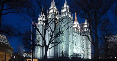 Salt Lake City - The Salt Lake Temple at night