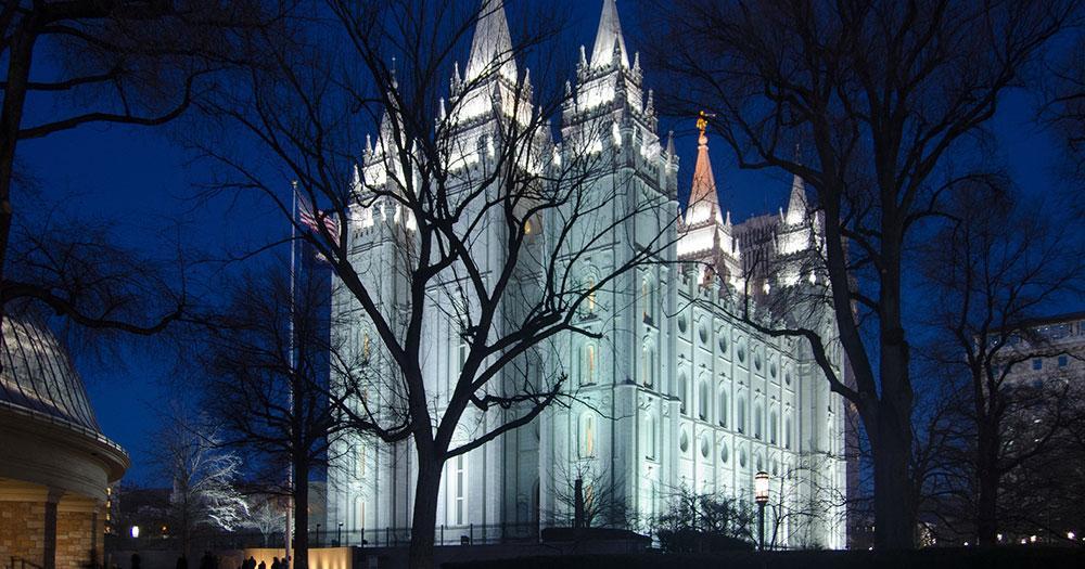 Salt Lake City - The Salt Lake Temple at night