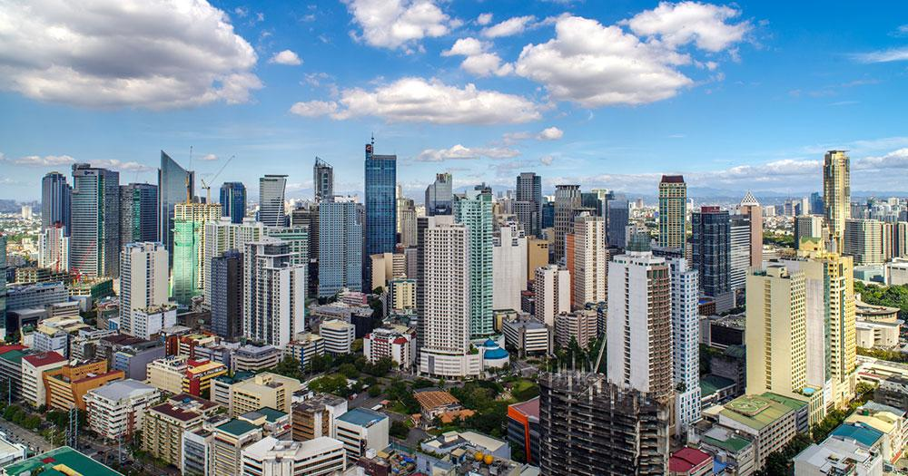 Manila - The skyline of Manila