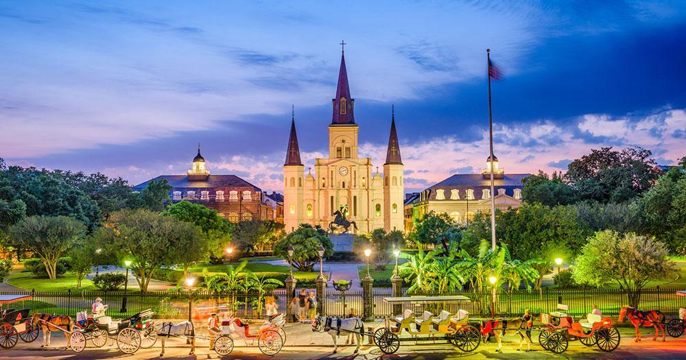 New Orleans - De St. Louis Kathedraal van New Orleans op het Jacksonplein
