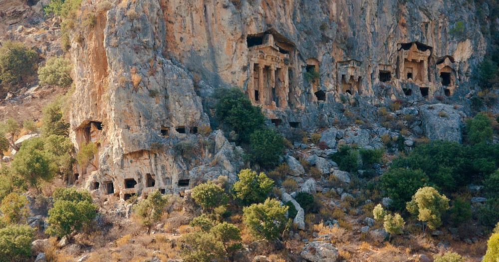 Fethiye - rock tombs from the ancient city of Tlos