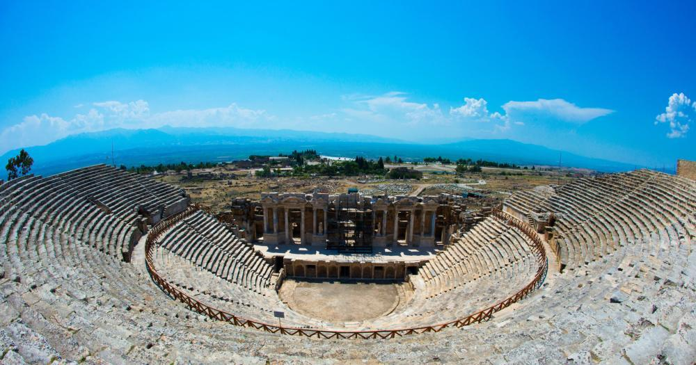 Pamukkale - View of the Roman Theater