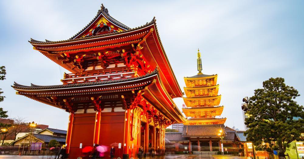 Tokyo - View of the Senso-ji Temple