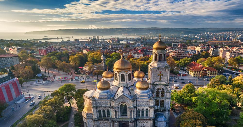 Golden beach - The cathedral of Varna