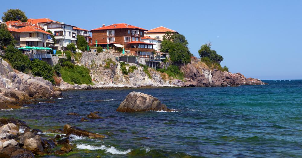 Golden beach - The rocky coast of Bulgaria