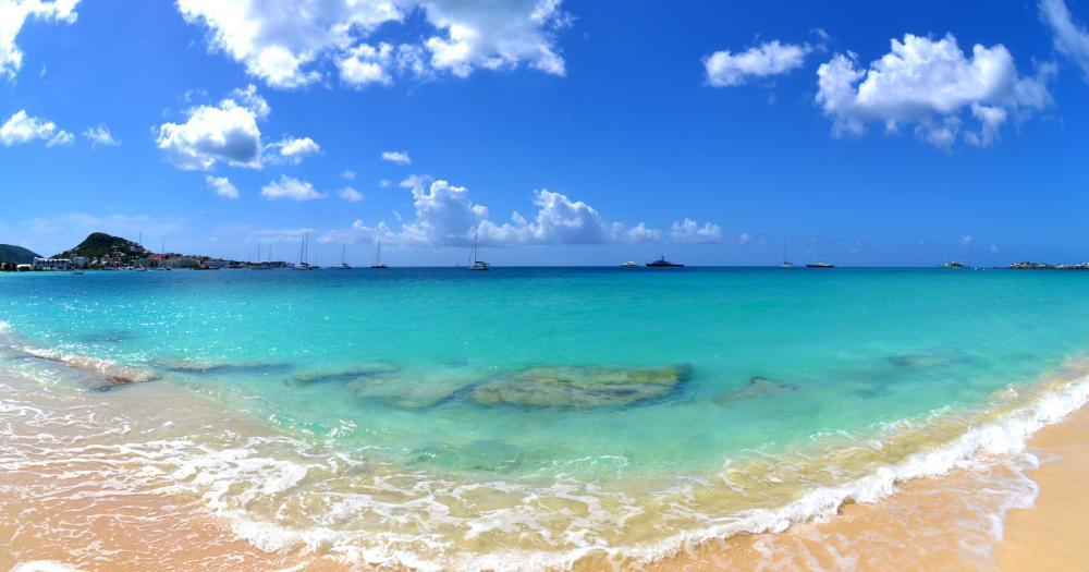 St. Martin - View of the beach